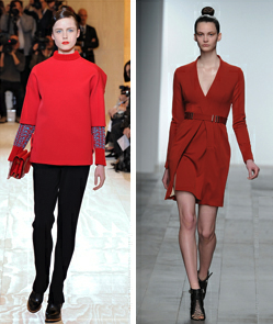 OFF THE RUNWAY: RED IT IN A MAGAZINE