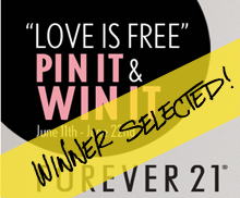 LOVE IS FREE PIN IT & WIN IT