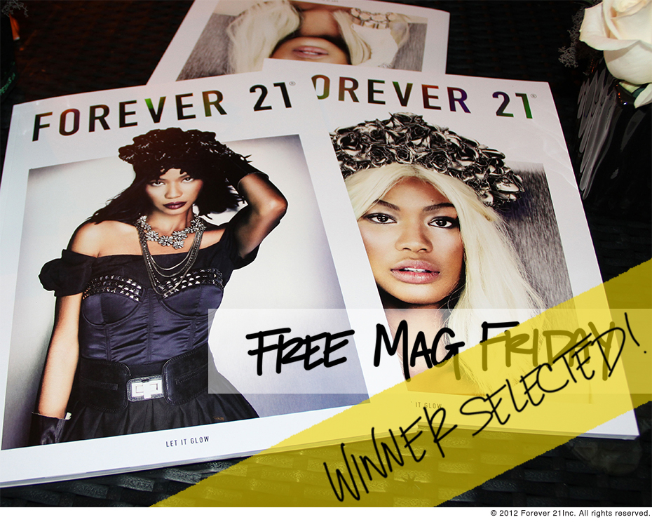 Free Mag Friday Thumbnail- Winner Selected