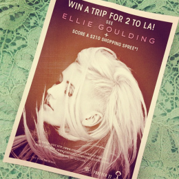 Win a Trip to LA & See Ellie Goulding!!!!