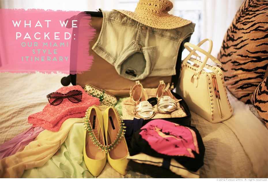 What we Packed- Miami style itinerary-1