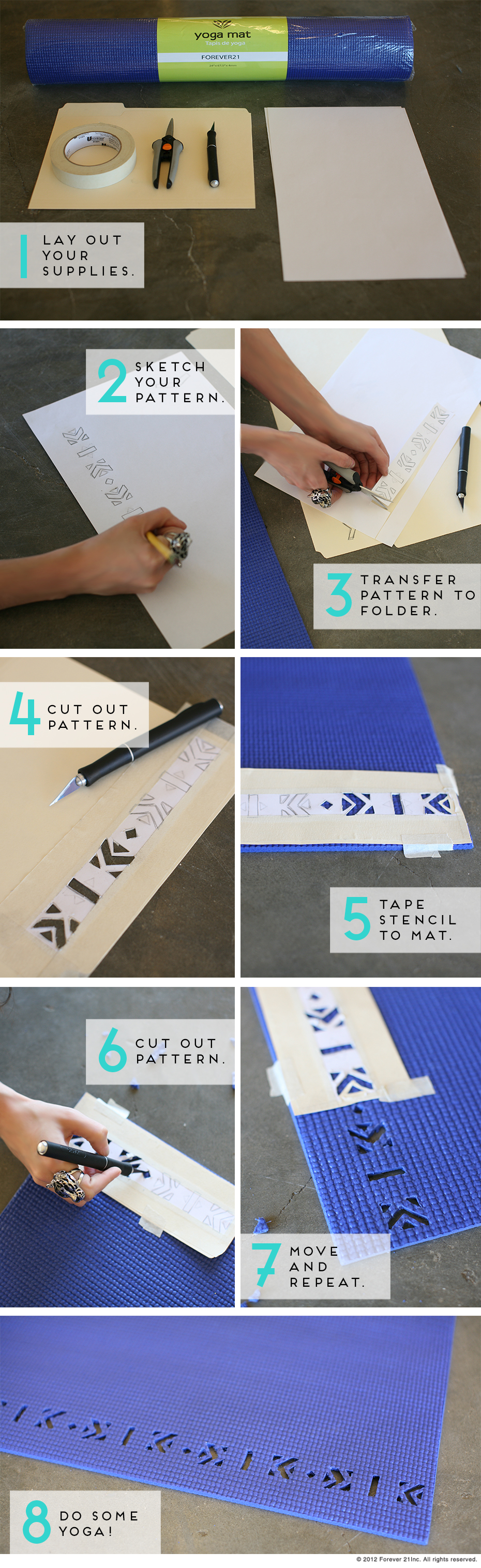 Yoga Mat DIY-steps