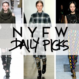F2013 NYFW: TOP 9 PICKS FROM THIS WEEKEND'S SHOWS