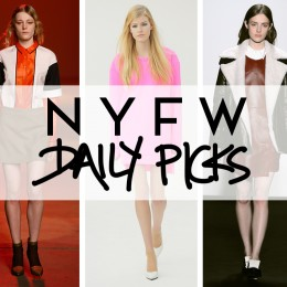 F2013 NYFW: Top 3 Picks from Yesterday's Shows