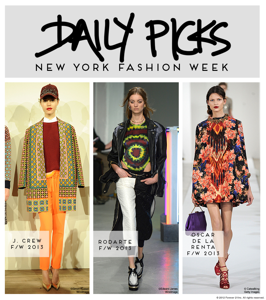 NYFW Fall 2013 Daily Picks 2-12