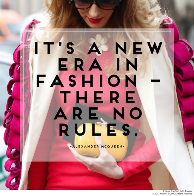 Fashion / Words of Wisdom: Fashion Knows No Boundaries